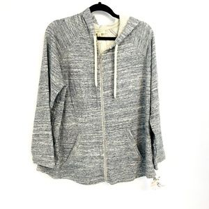 Style & Co Gray Zip Up Hoodie Sweater